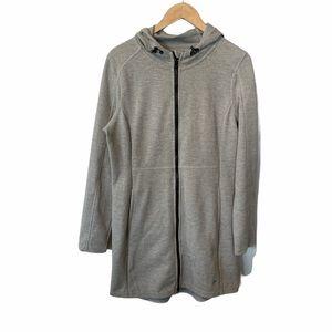 FILA full zip tunic length hooded jacket Medium
